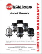 MGM Brakes releases NEW Limited Warranty Policy